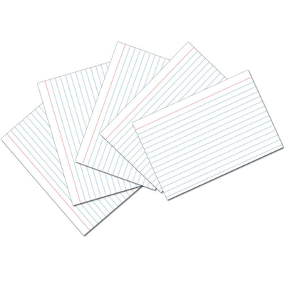 (10 Pk) White 4x6 Ruled Index Cards 100 Per Pk