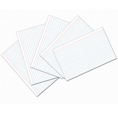 White 5x8 Ruled Index Cards 100pk