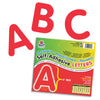 (2 Pk) Self Adhesive Letter 4in Red