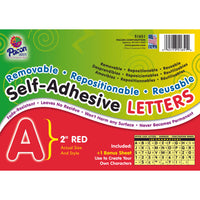 (2 Pk) Self Adhesive Letter 2in Red