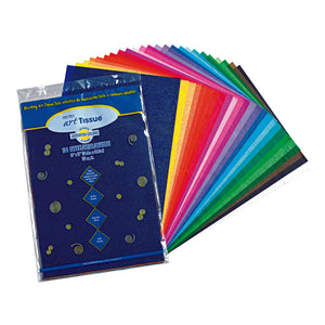 Bleeding Art Tissue 25 Assorted Colors 100 Sheets 12x18