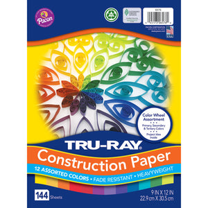 True Ray Color Wheel Asst 144 Pack 9x12