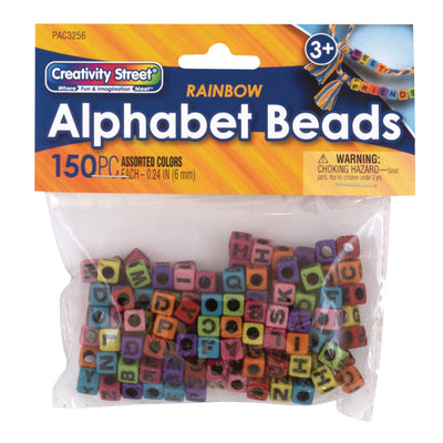 Alphabet Beads Assorted Rainbow Creativity Street