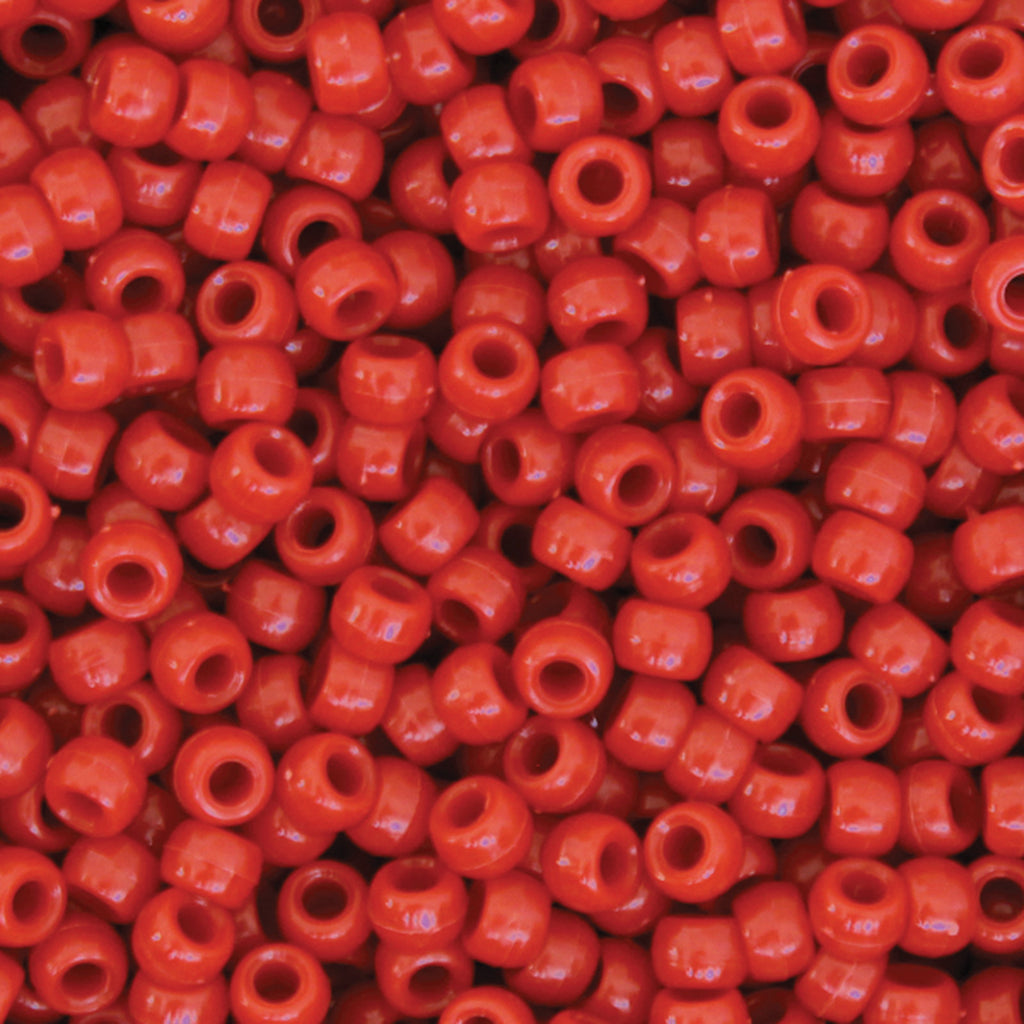 (3 Pk) Pony Beads Red 1000 Pieces