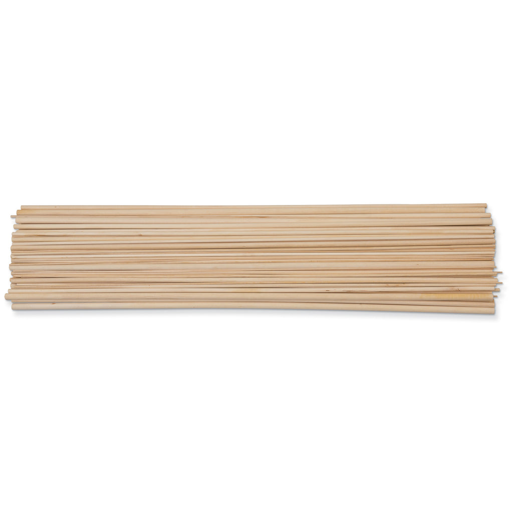 Natural Wood Dowels 36in Assortment 111 Pieces