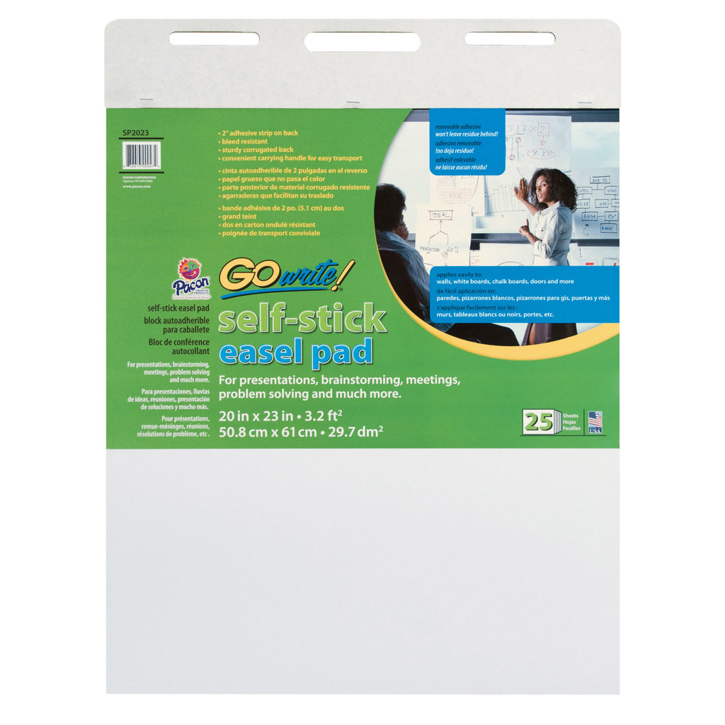 Gowrite Self-stick Easel Pad 20x23