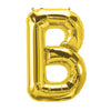 (10 Ea) 16in Foil Balloon Gold Letter B