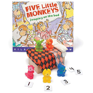 Five Little Monkeys Jumping On The Bed 3d Storybook