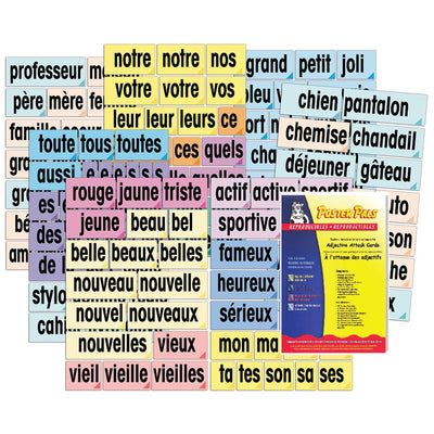 Adjective Attack Card Set French - Student Spotlight
