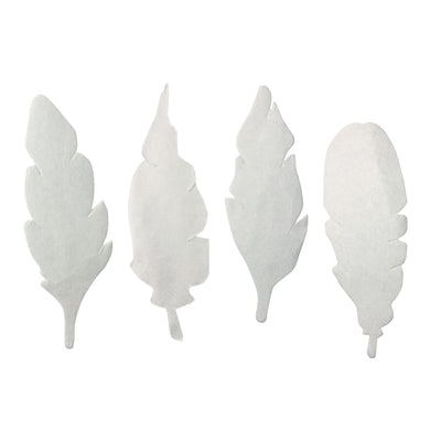 Color Diffusing Paper Feathers 80pk