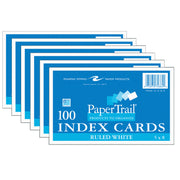(6 Pk) Index Cards 5 X 8 Ruled