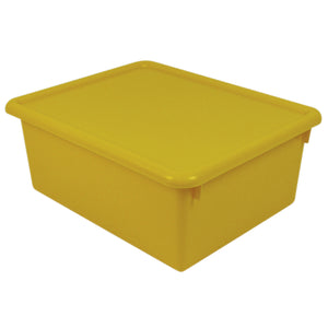 (3 Ea) Stowaway Yellow Letter Box With Lid 13-1-2 X 10-3-4 X 5-3-8