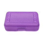 (12 Ea) Pencil Box Purple Sparkle