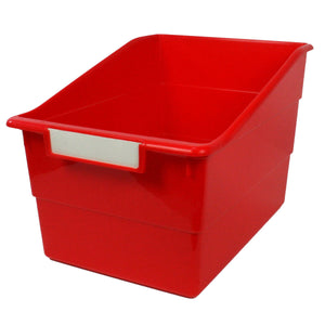 (3 Ea) Wide Red File With Label Holder