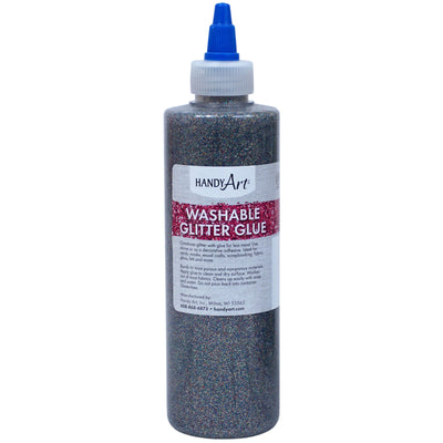 Washable Glitter Glue 8oz Multi Clr Handy Art