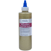Washable Glitter Glue 8 Oz Gold Handy Art