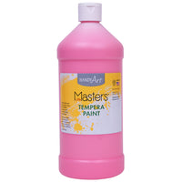 (6 Ea) Tempera Paint Quart Pink Little Masters