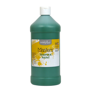 (6 Ea) Little Masters Green 32oz Tempera Paint