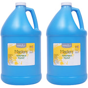 (2 Ea) Tempera Paint Gallon Light Blue Little Masters - Student Spotlight