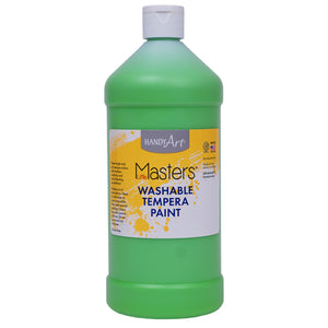 (6 Ea) Washable Tempera Paint Quart Lt Grn Little Masters - Student Spotlight