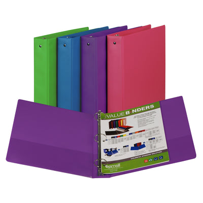 (2 Ea) Fashion Color Binder 1.5in Capacity