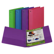 (6 Ea) Fashion Color Binder 1.5in Capacity