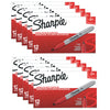 (12 Ea) Marker Sharpie Fine Red