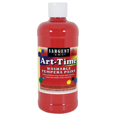 Red Art-time Washable Paint 16 Oz
