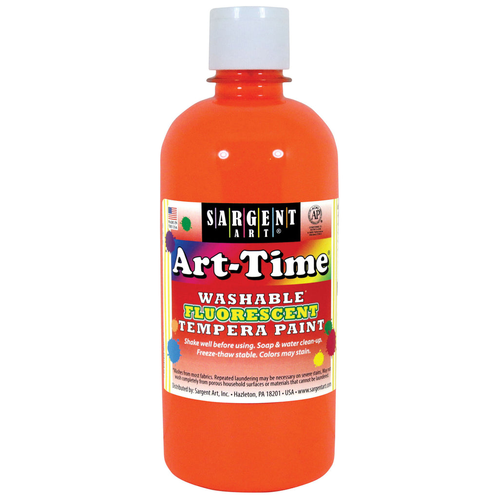 Arttime Fluorescent Paint 16 Oz Or Washable Tempera