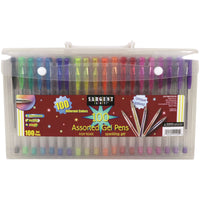 Gel Pens In Case With Handle 100ct