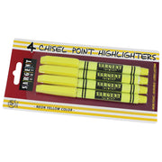 (12 Pk) 4ct Fine Tip Yellow Highlighter Per Pk
