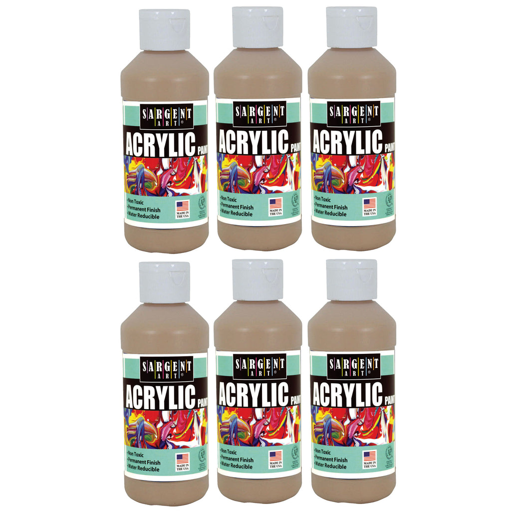 (6 Ea) Acrylic Paint 8 Oz Peach