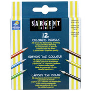 (12 Bx) Sargent Art Half-sized Colored Pencils 12 Per Pk