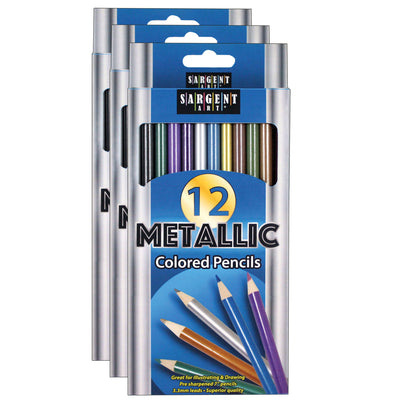 (3 Ea) Metallic Colored Pencils
