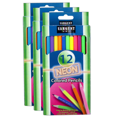 (3 Ea) Sargent Art Neon Colored Pencils