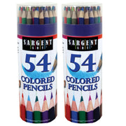 (2 Ea) Colored Pencils 54 Colors Tub