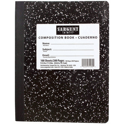 100sht 7.5 X 9 3-4 Hard Cover Composition Notebook
