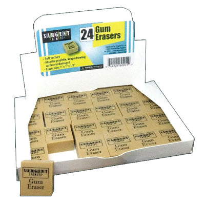 Gum Erasers Pack Of 24 - Student Spotlight