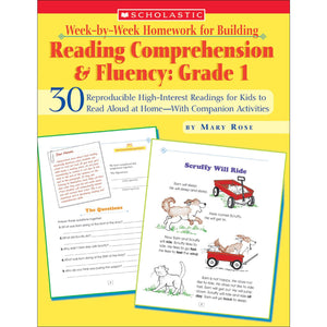 Reading Comp & Fluency Gr 1 Week By Week