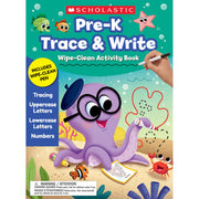 Pre-k Trace & Write Activity Book Wipe Clean