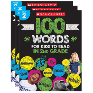 (3 Ea) 100 Words For Kids To Read In Gr 2