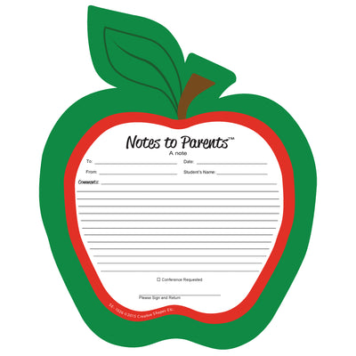 Notes To Parents Blank Apple Notepad