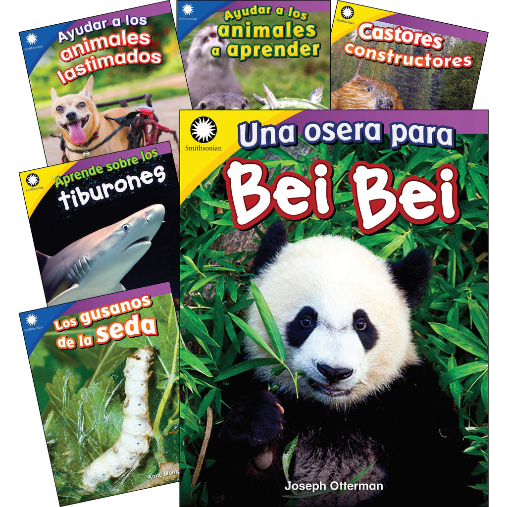 Animals Spanish Gr K-1 6 Book Set Smithsonian Informational Text