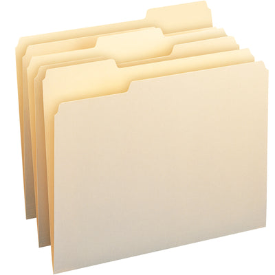 Smead Letter Size File Folders Manila Box Of 100 Single Ply