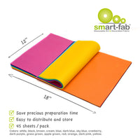 (2 Pk) Smart Fab Cut Sheets 12x18 Assorted - Student Spotlight