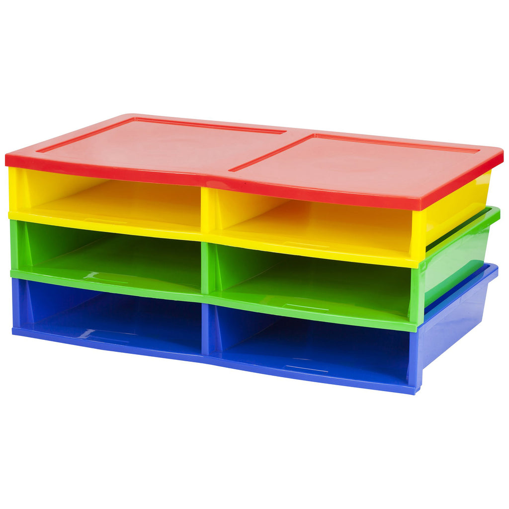 Quick Stack Literature Organizer 6 Compartments