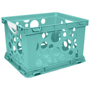 Premium File Crate W Handles Teal Classroom