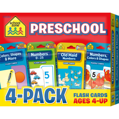 Preschool Flash Cards 4 Pk