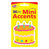 Mini Accents Birthday Cake 36pk 3in