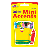 MINI ACCENTS CRAYONS 36/PK 3IN